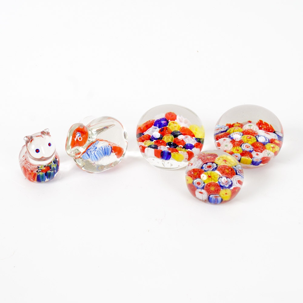 Art Glass Paperweight Collection