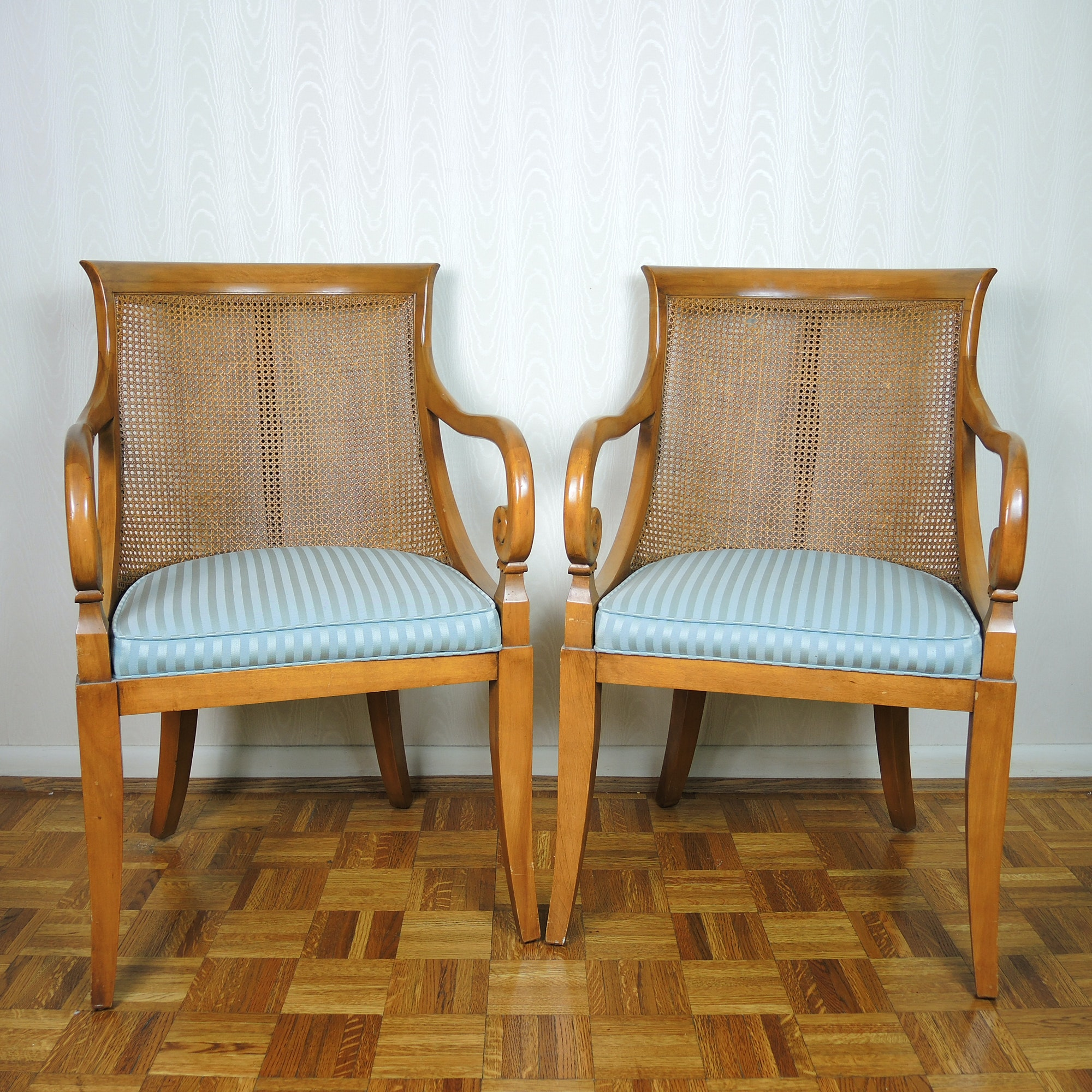 Pair of Cane-Back Chairs