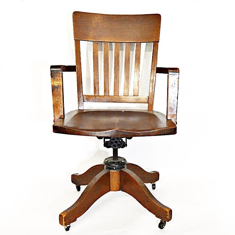 1930s Oak Desk Chair