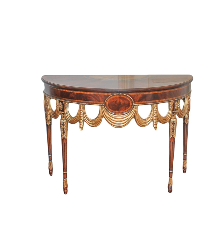 Mahogany neoclassical style console by maitland smith ebth mahogany neoclassical style console by maitland smith geotapseo Images