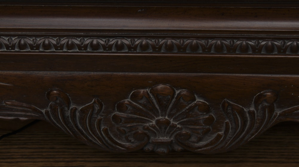 Thomasville Marble Top End Table Ebth