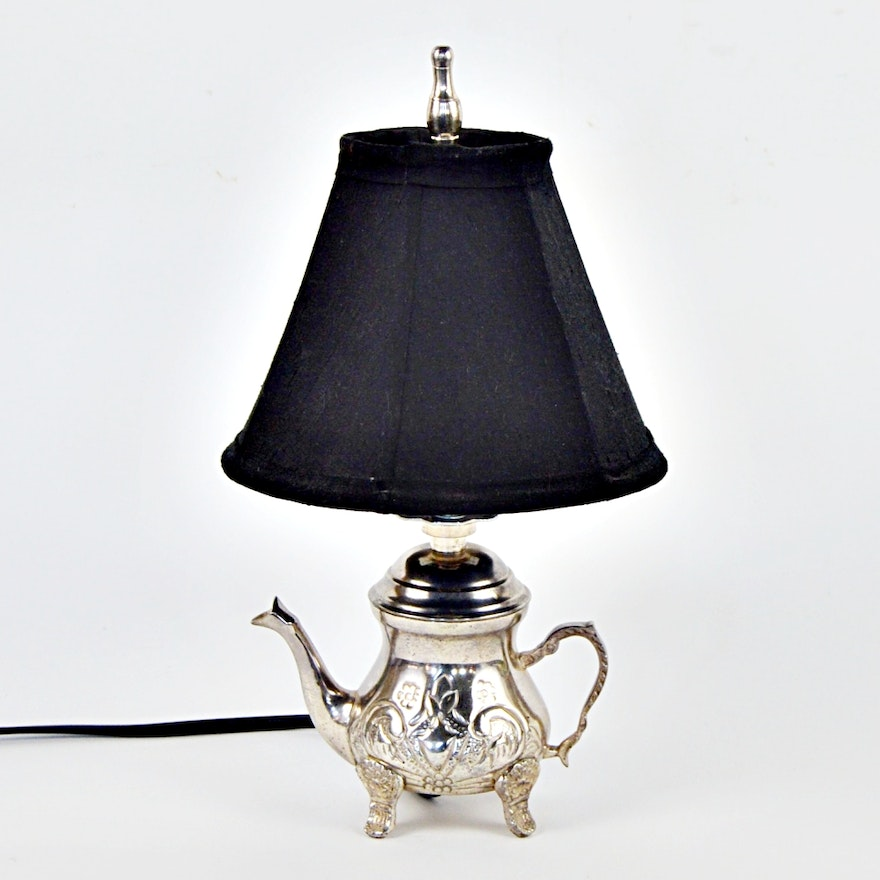table com lamp accent silver small amazon dp teapot base