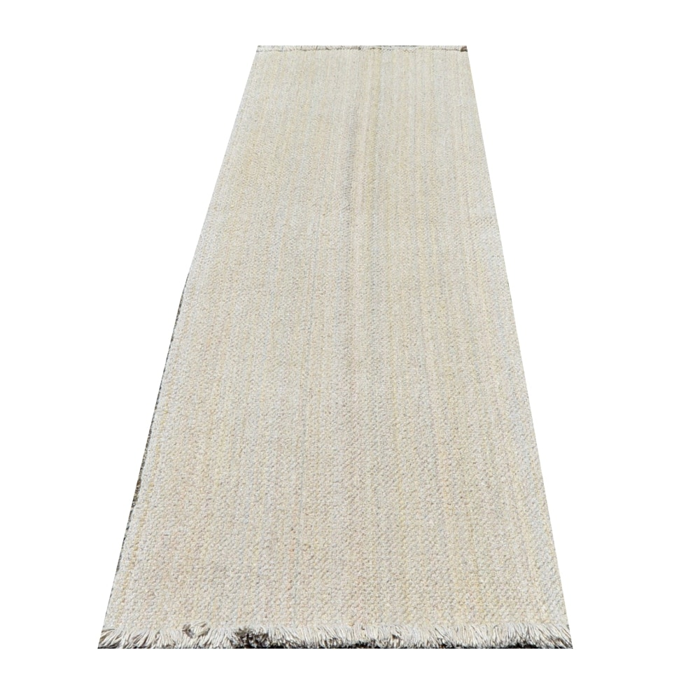 Handwoven Flatweave Wool Carpet Runner
