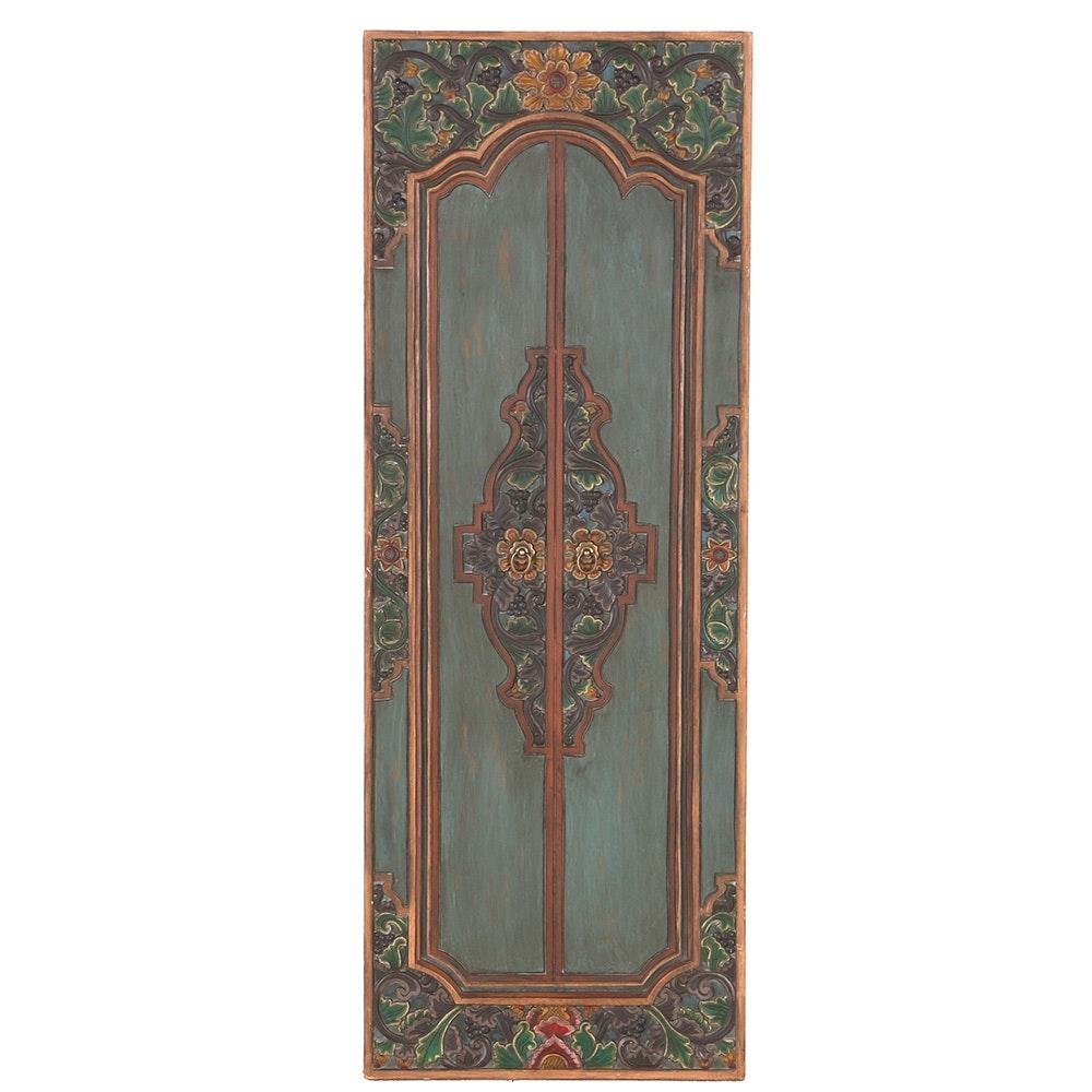 Ornate Door Panel Wall Decor