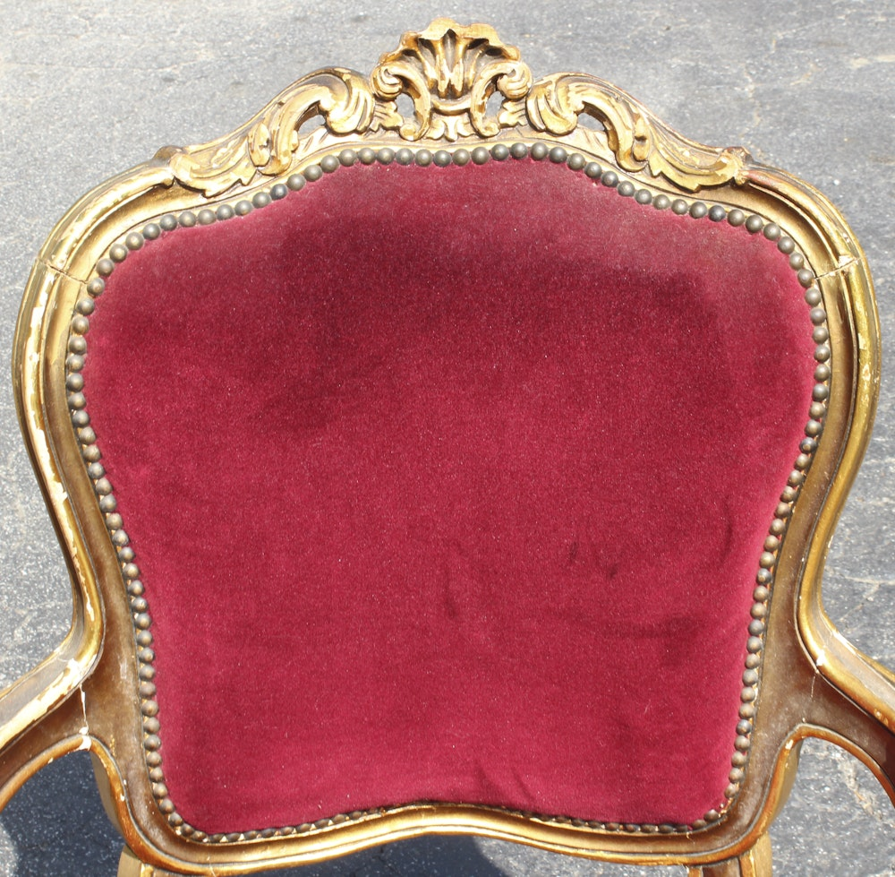 Pair Of Vintage Louis Xv Style Armchairs Ebth