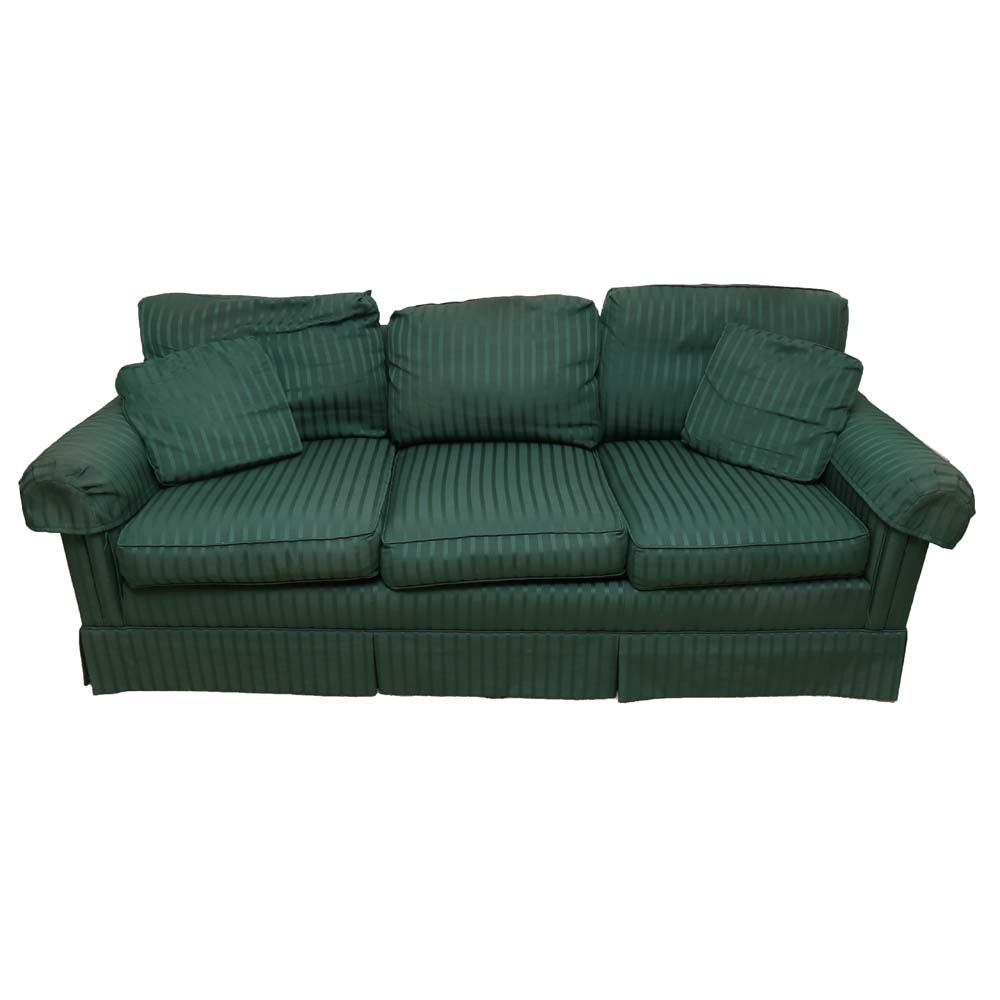 Green Striped Sofa Green Striped Sofa Fabric Ezhandui