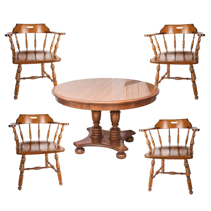 Ethan Allen Dining Armchairs With Table EBTH