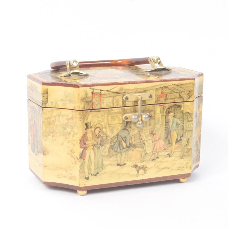 Vintage Anton Pieck Wooden Handbag