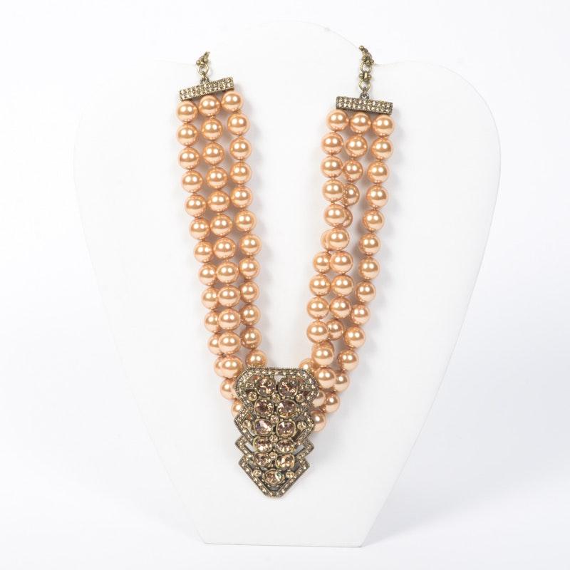 Heidi Daus Three-Strand Costume Necklace