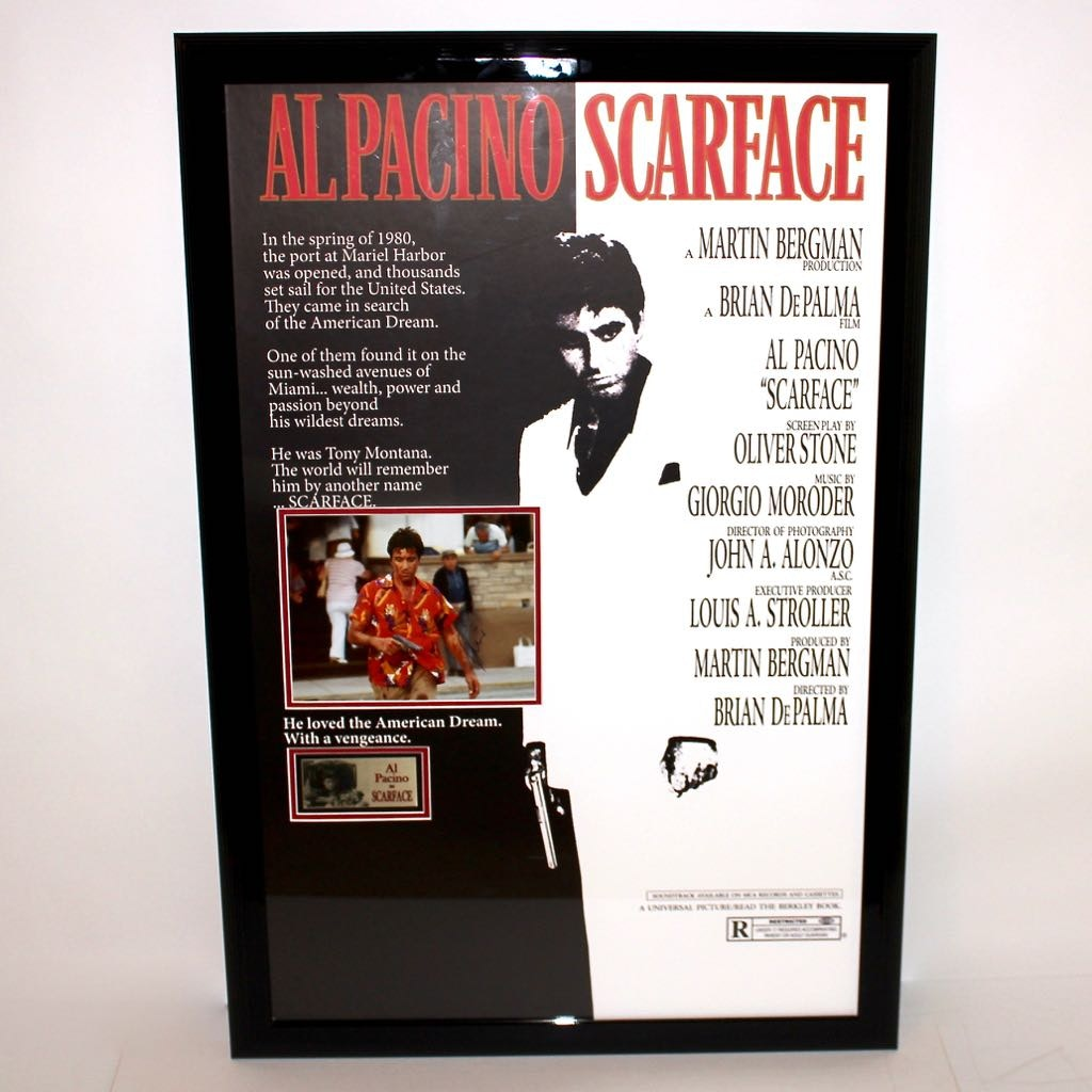"""Signed Al Pacino """"Scarface"""" Movie Poster"""