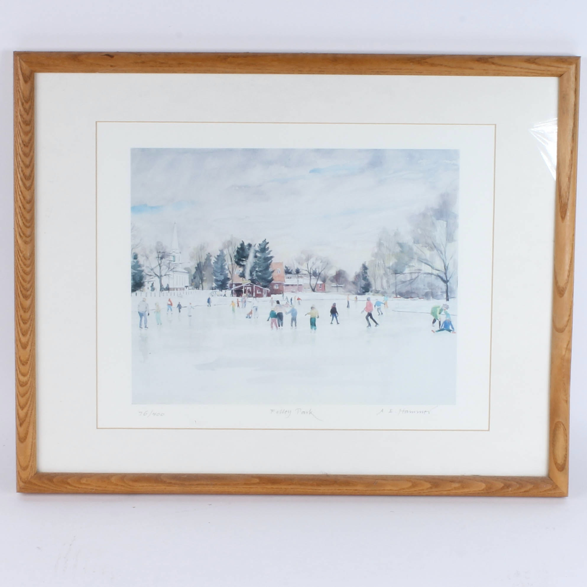 "A. E. Hammer Signed Limited Edition Print ""Filley Park"""