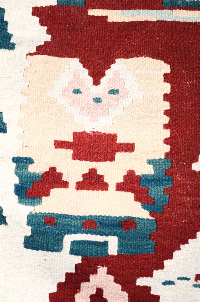 Handwoven Turkish Kilim Santa Claus Rug Ebth