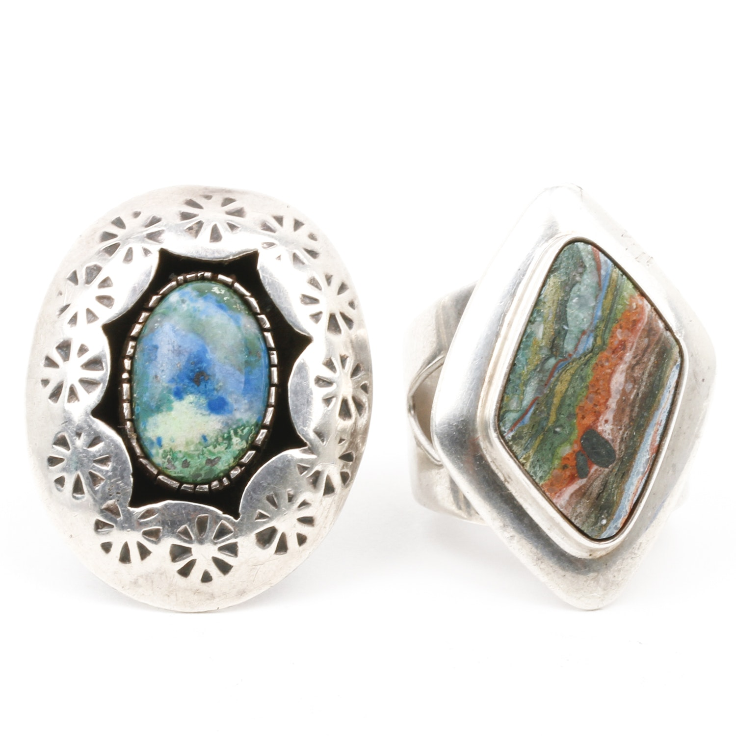 Sterling Silver and Stone Statement Rings