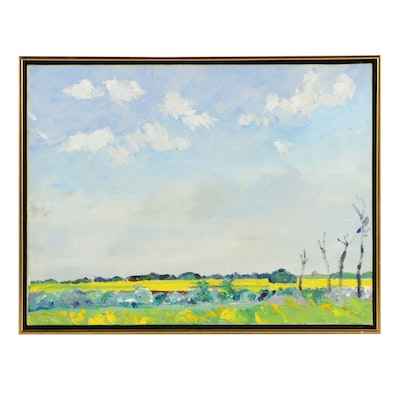 "Dorothy Knowles, ""Rapeseed Fields Near Duck Lake"""