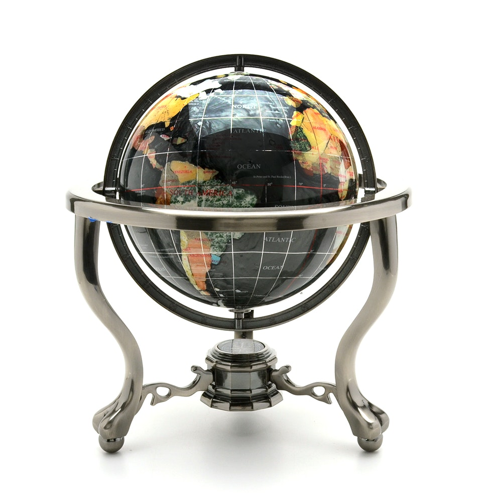Gemstone Table Top Globe ...