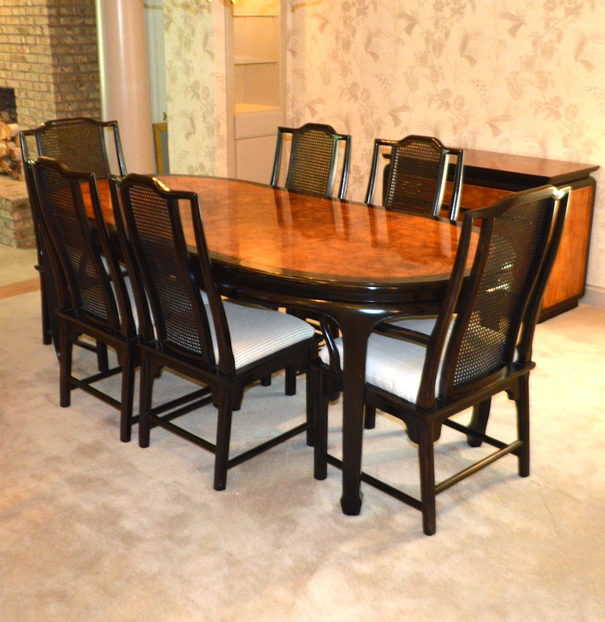 asian dining room chairs | Century Furniture Asian Inspired Dining Table and Six ...