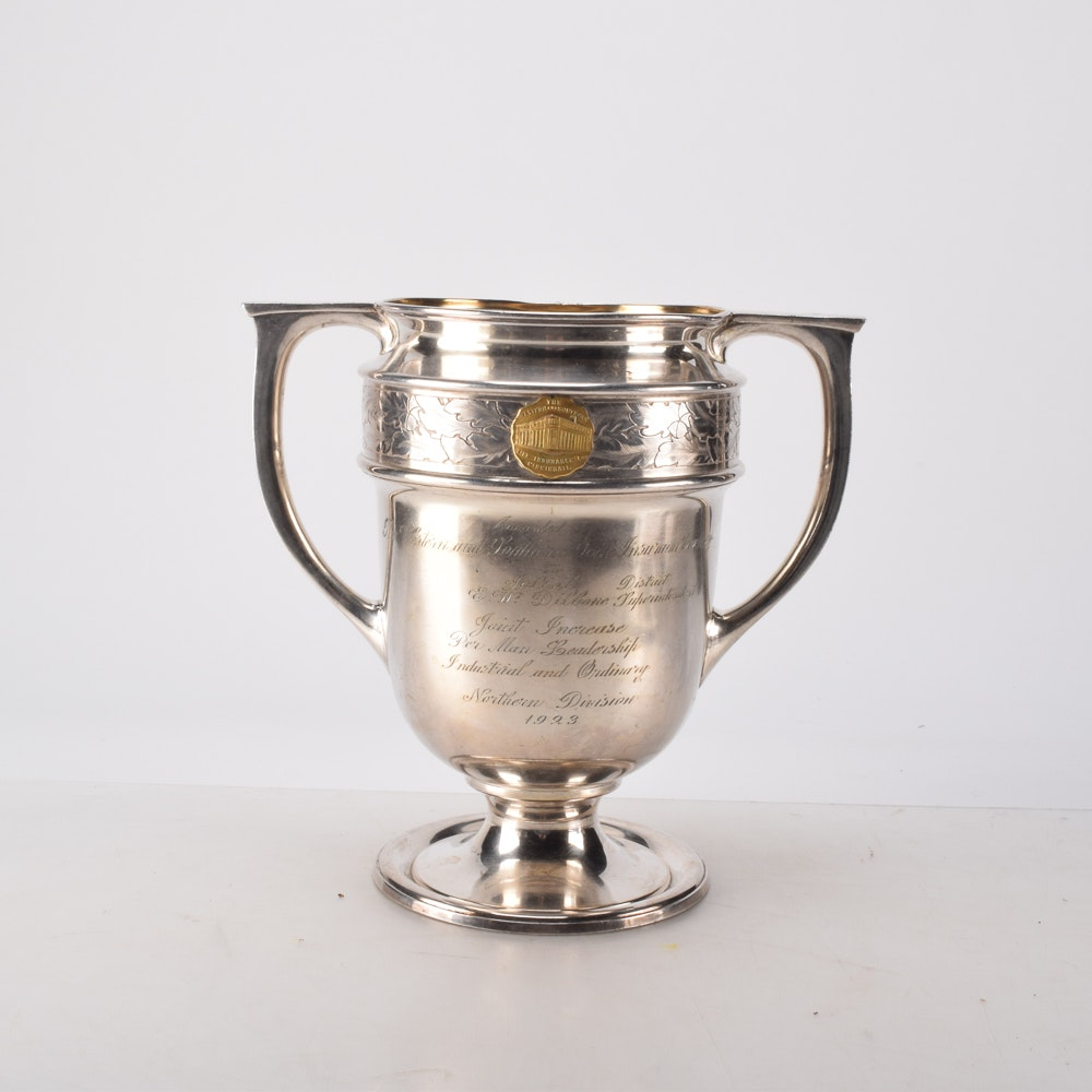 1923 Monogrammed Silver Plate Trophy