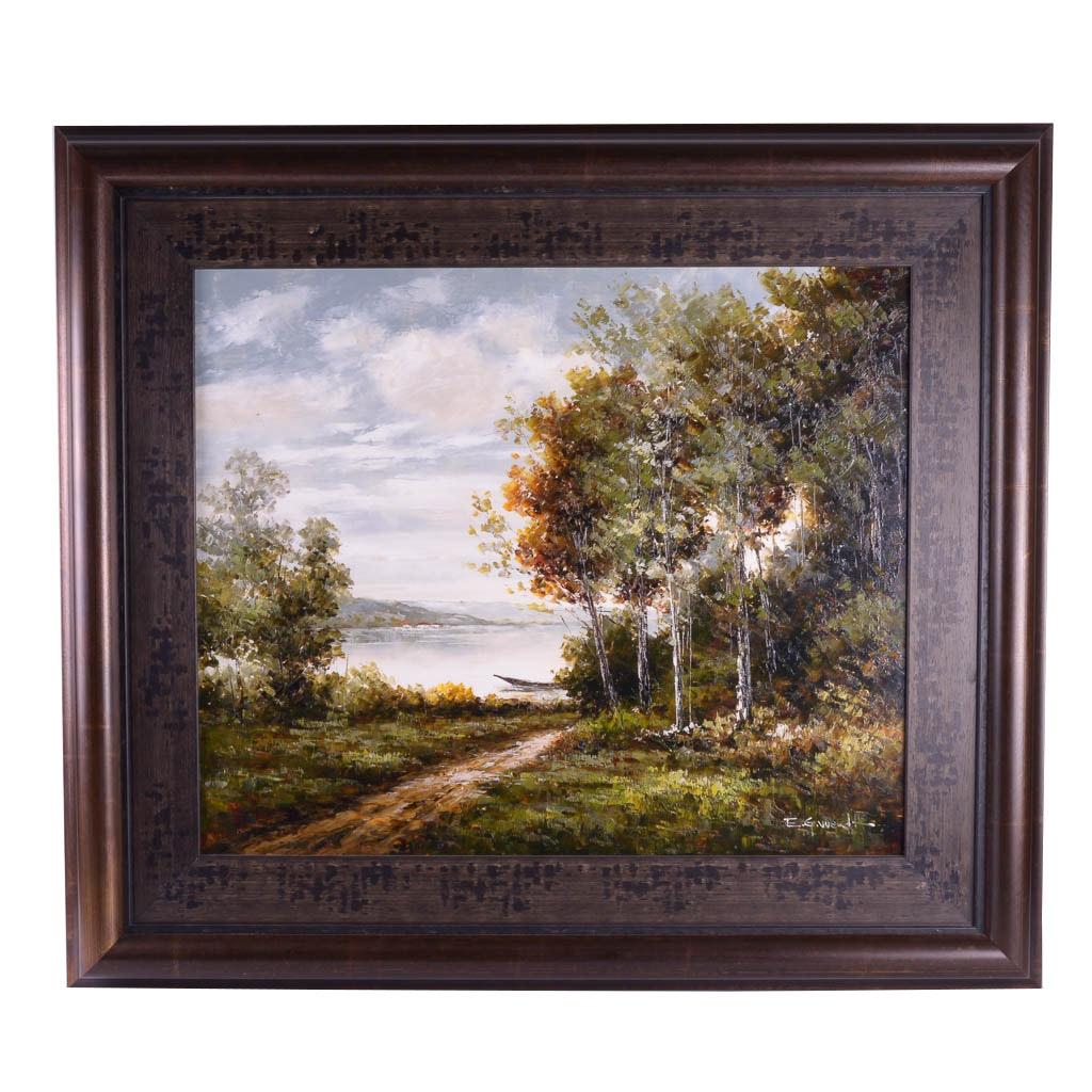 Original Oil Landscape Painting by E.D. Wendt