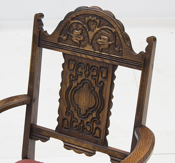 Bernhardt Furniture Jacobean Style Oak Dining Table and  : IMG6720jpgixlibrb 11 from www.ebth.com size 678 x 630 jpeg 84kB