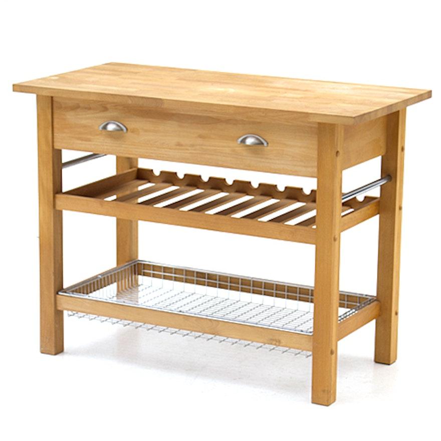 Crate & Barrel Butcher Block Kitchen Table