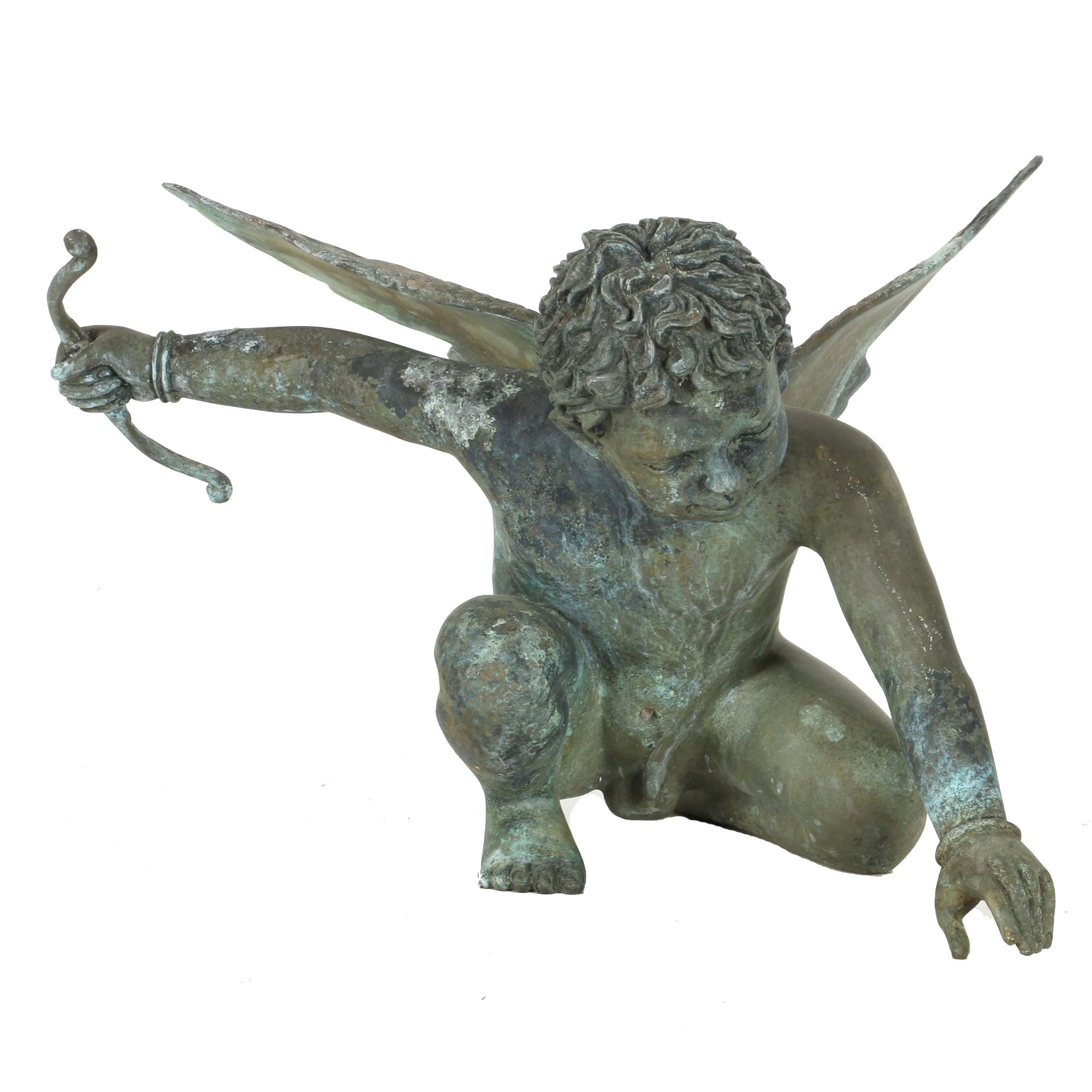 Bronze Garden Statue Of Cupid ...