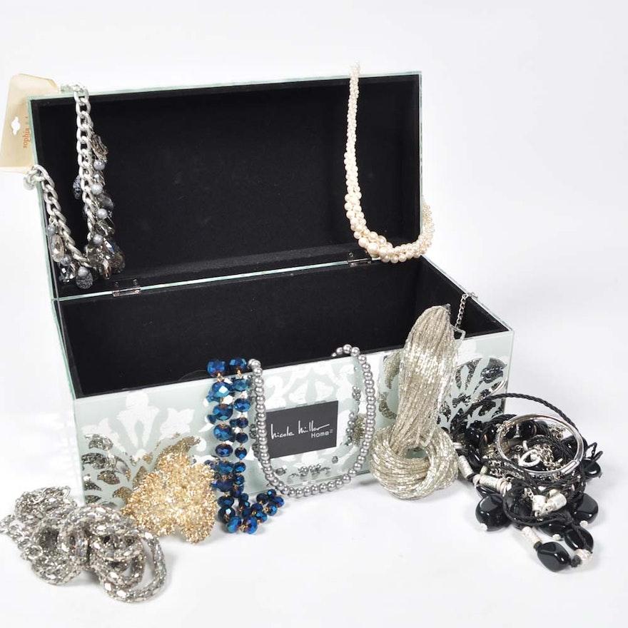 Nicole Miller Jewelry Box Unique Costume Jewelry And Nicole Miller Jewelry Box EBTH