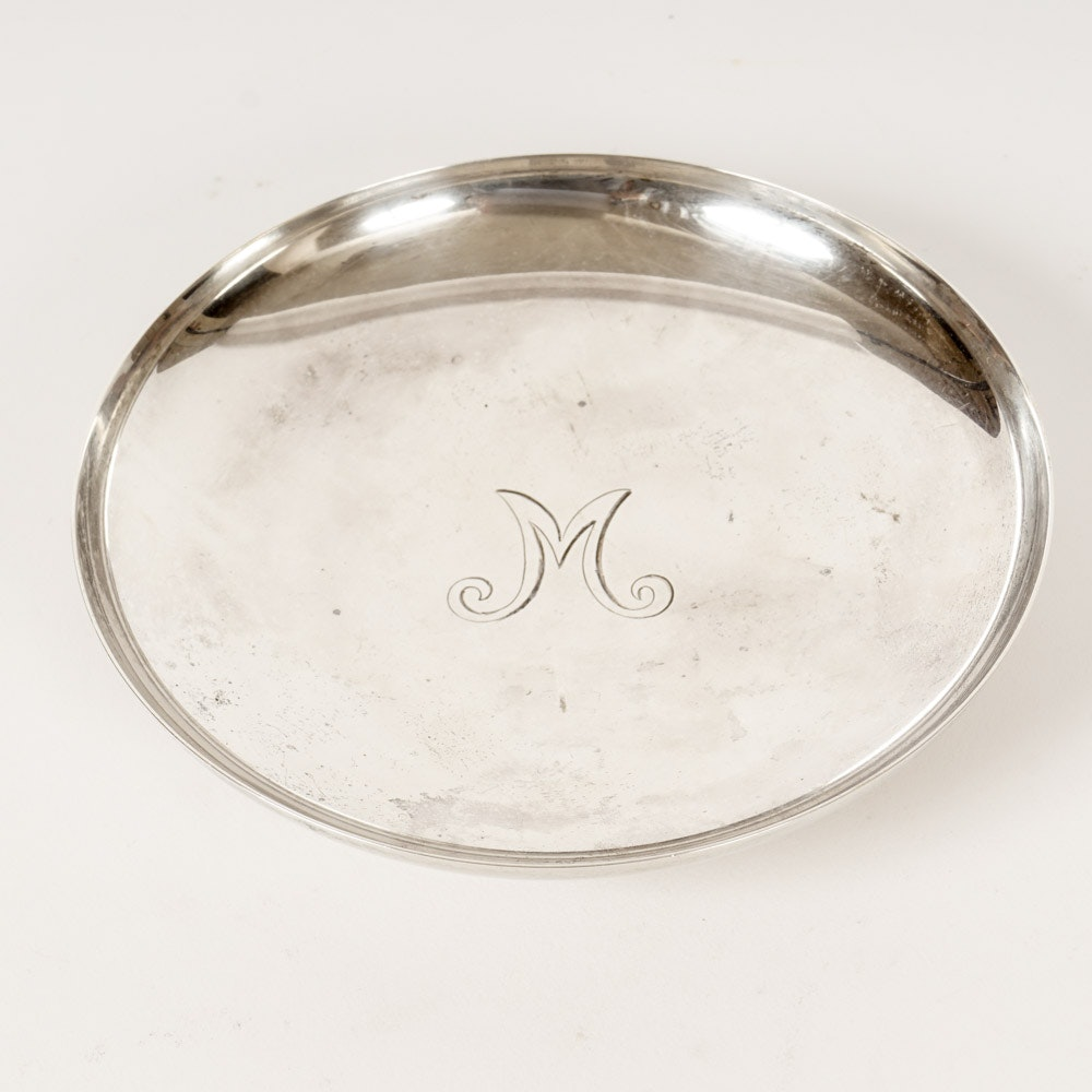 Tiffany & Co Sterling Monogrammed Dish