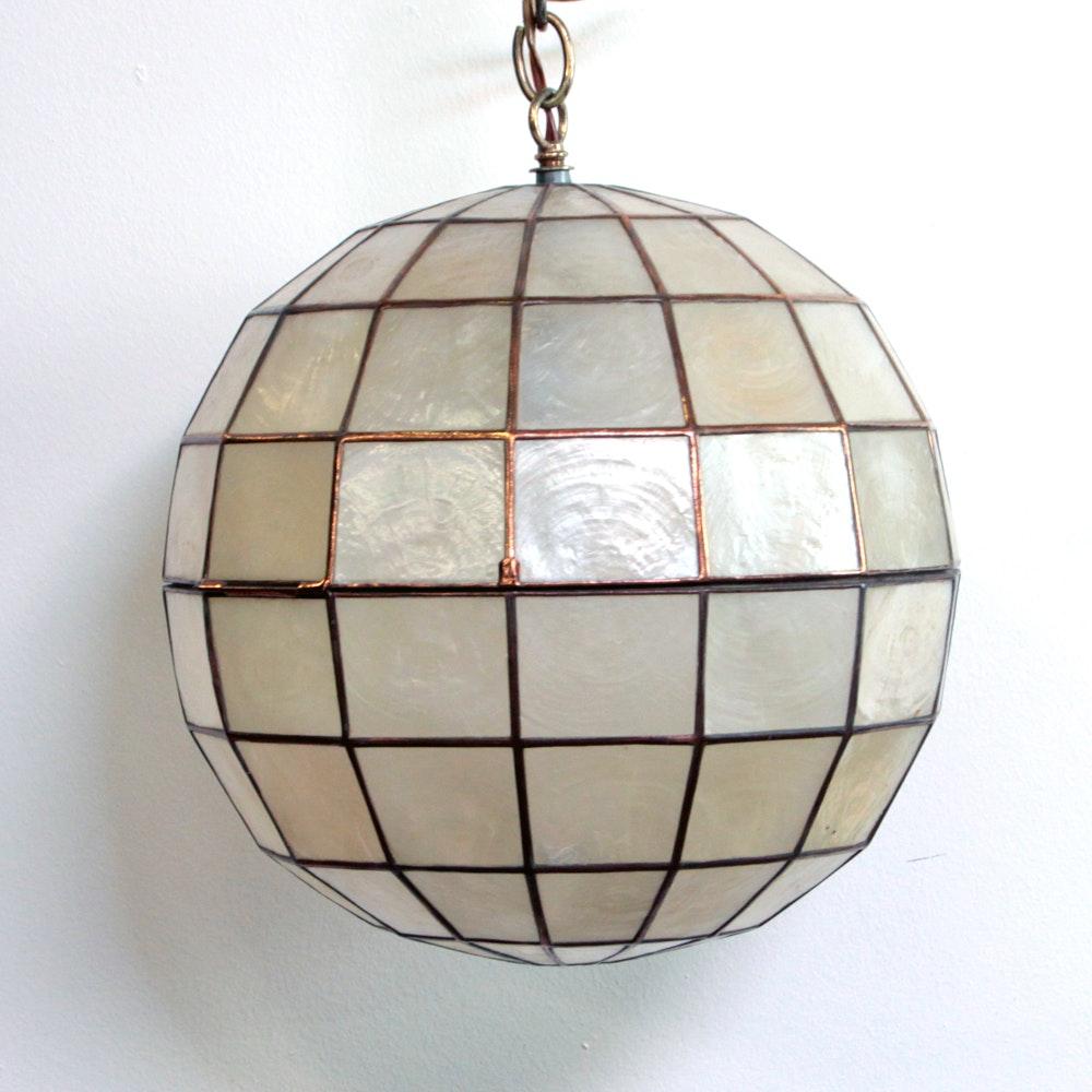 Mid-Century Hanging Globe Light