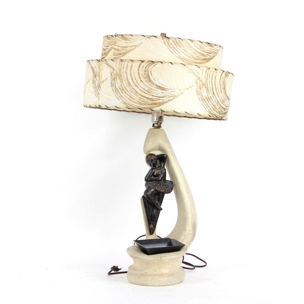 Vintage Premco Chalkware Ballerina Lamp C. 1955 ...