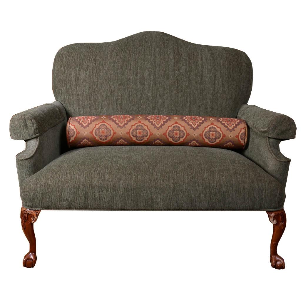 Olive Upholstered Loveseat