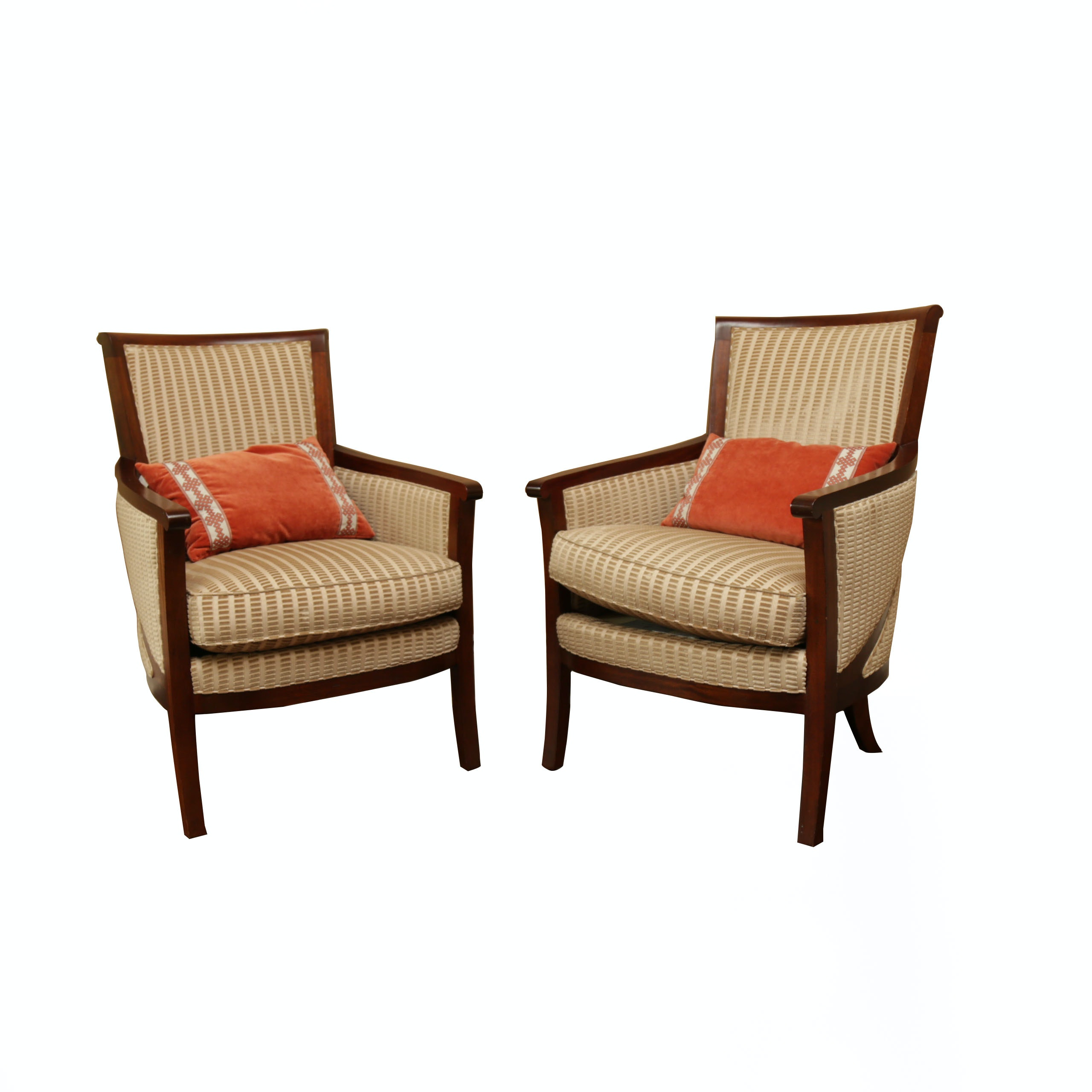 Contemporary Upholstered Arm Chairs by Hickory Chairs