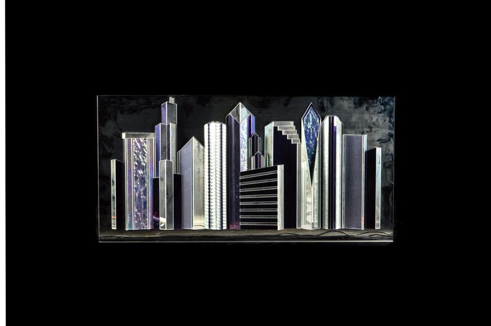 Chicago Art Glass Wall Sculpture
