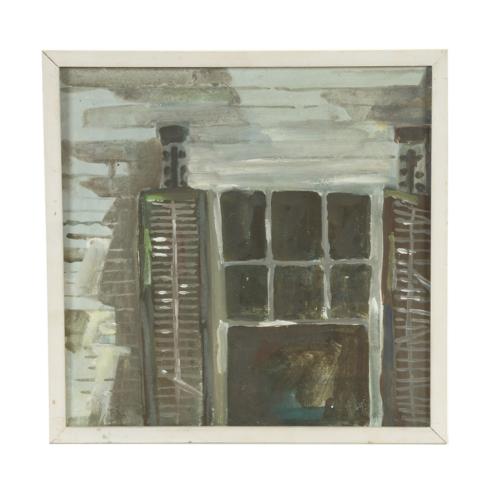 """Nancy Nordloh Neville Oil on Canvas """"Once There Were Curtains"""""""