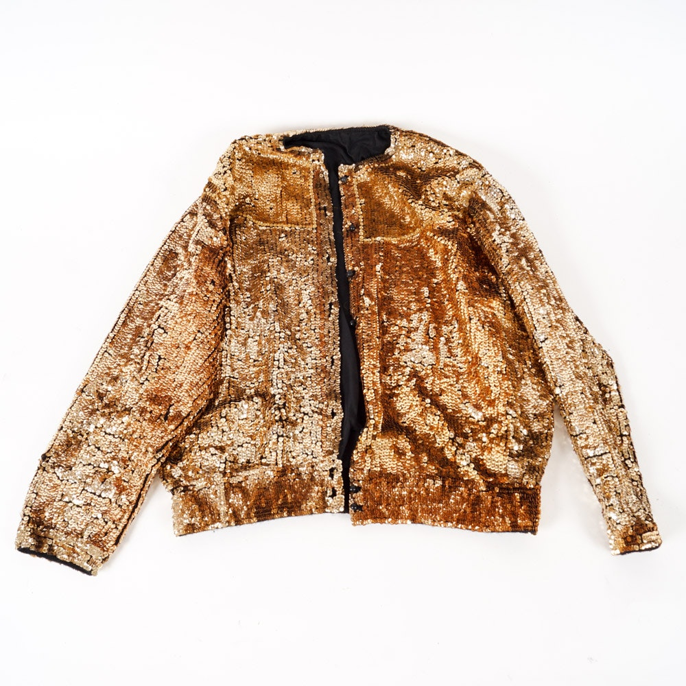 Women's Gold Sequined Jacket