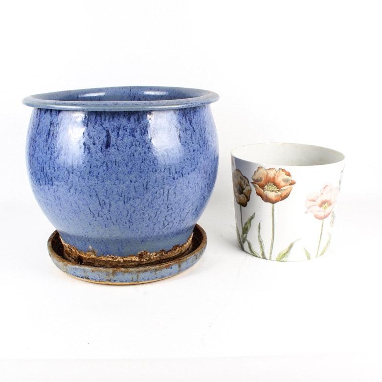 Pair of Vintage Ceramic Planters