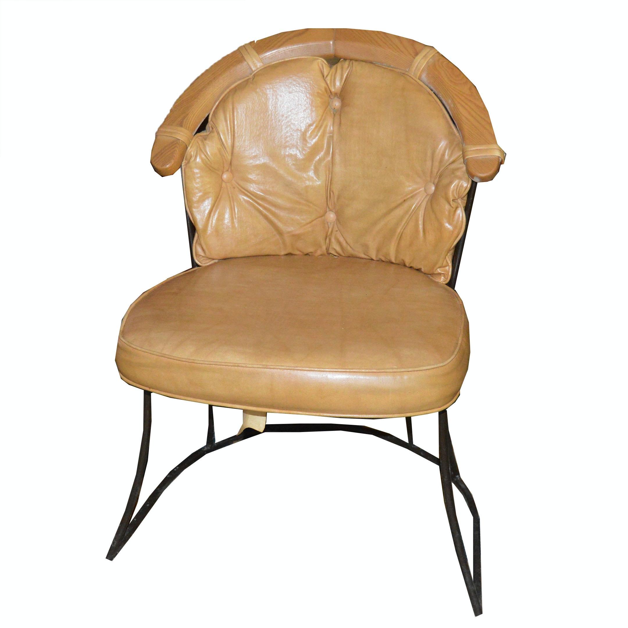 Faux Leather Captainu0027s Chair, Circa 1960s ...