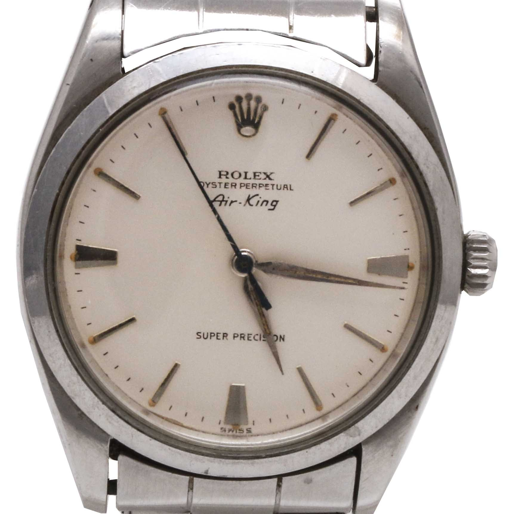 "Rolex ""Air King"" Stainless Steel Wristwatch"