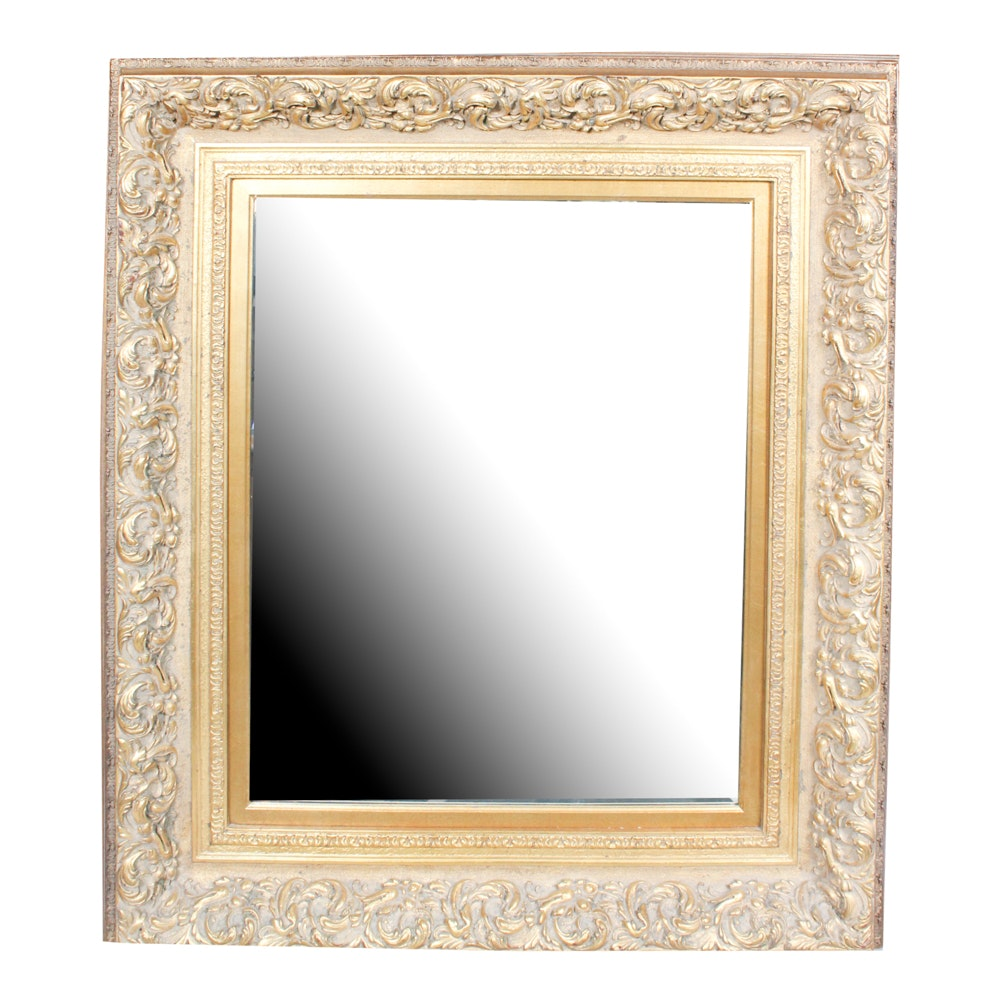 Large Gold Wall Mirror large gold-tone wall mirror : ebth