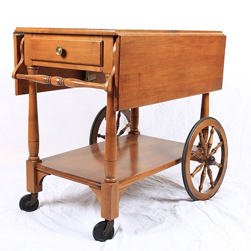 Sprague and Carleton Solid Maple Tea Cart