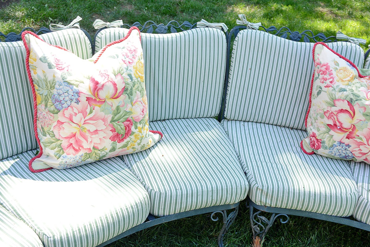 Woodard Quot Chantilly Rose Quot Patio Furniture With Brunschwig