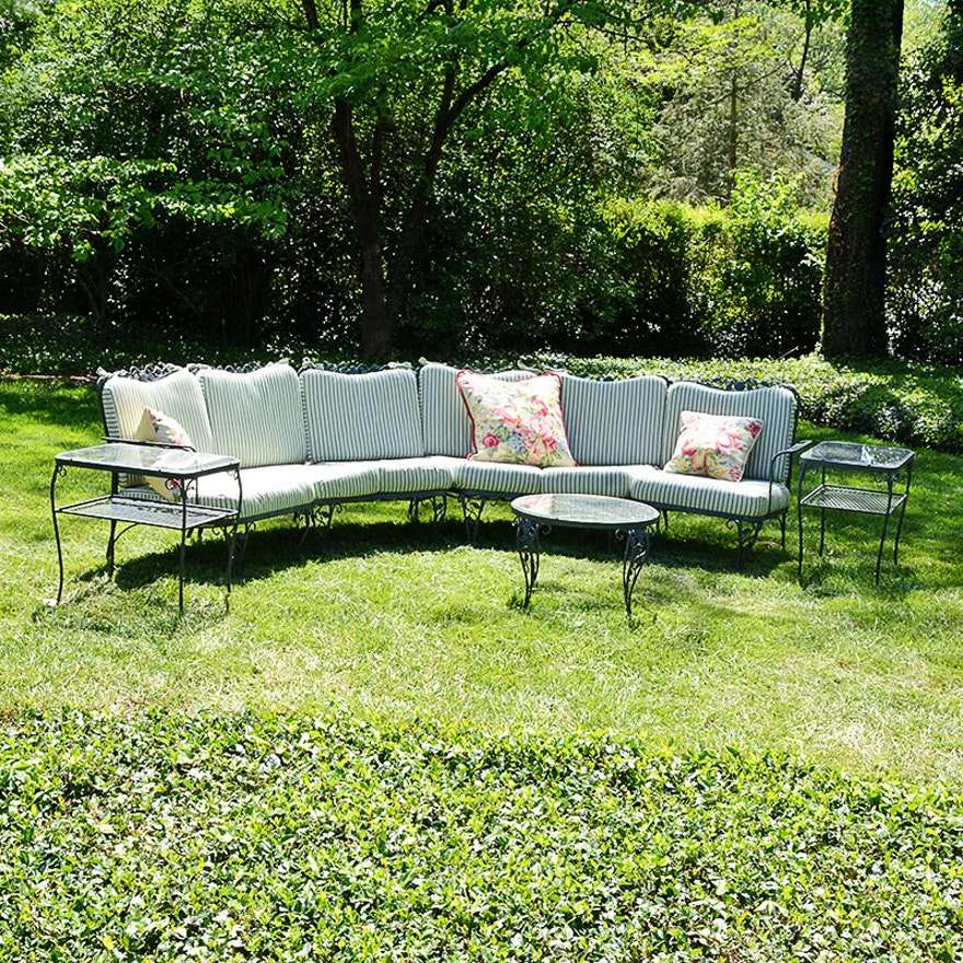 Woodard Quot Chantilly Rose Quot Wrought Iron Patio Furniture With