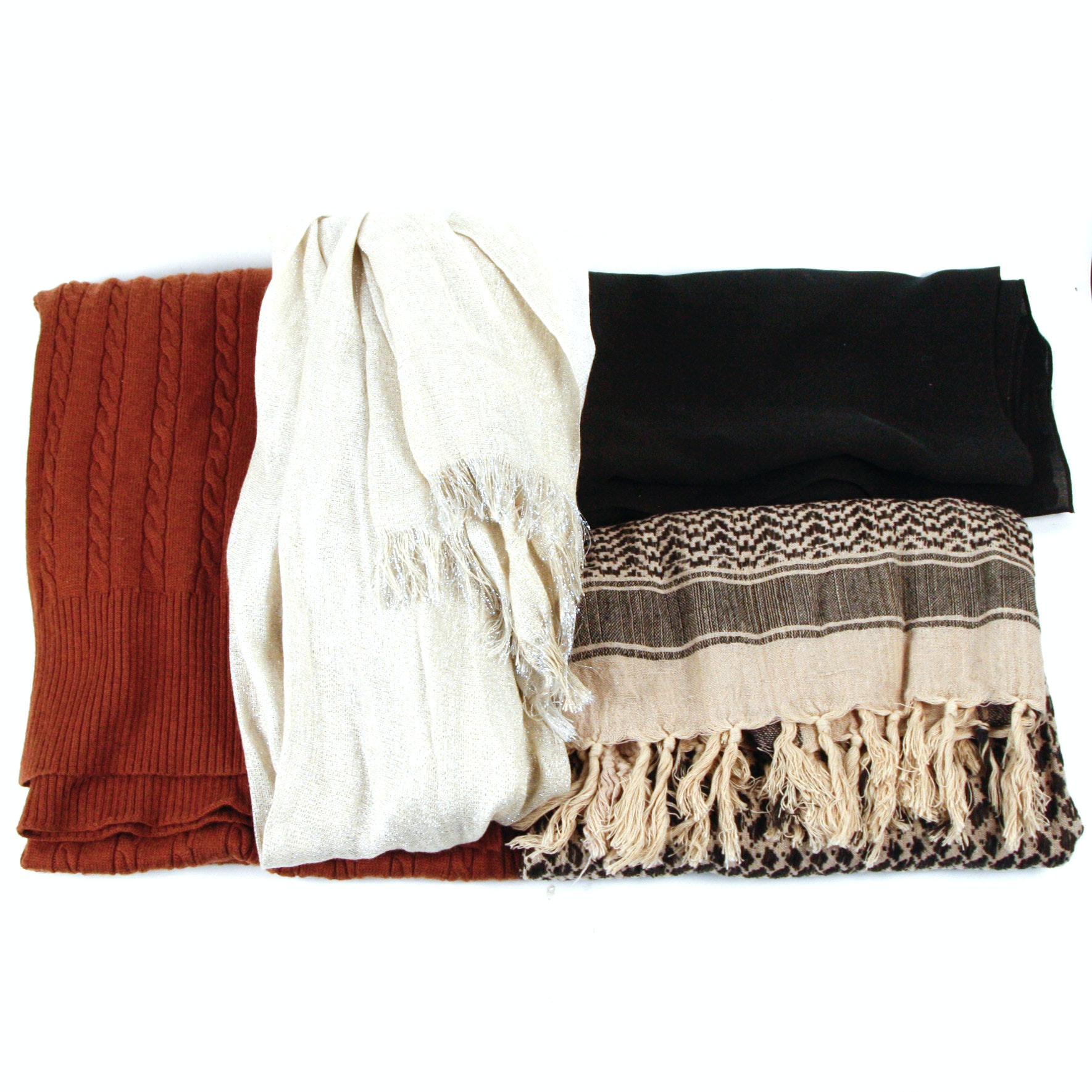 Grouping of Four Scarves