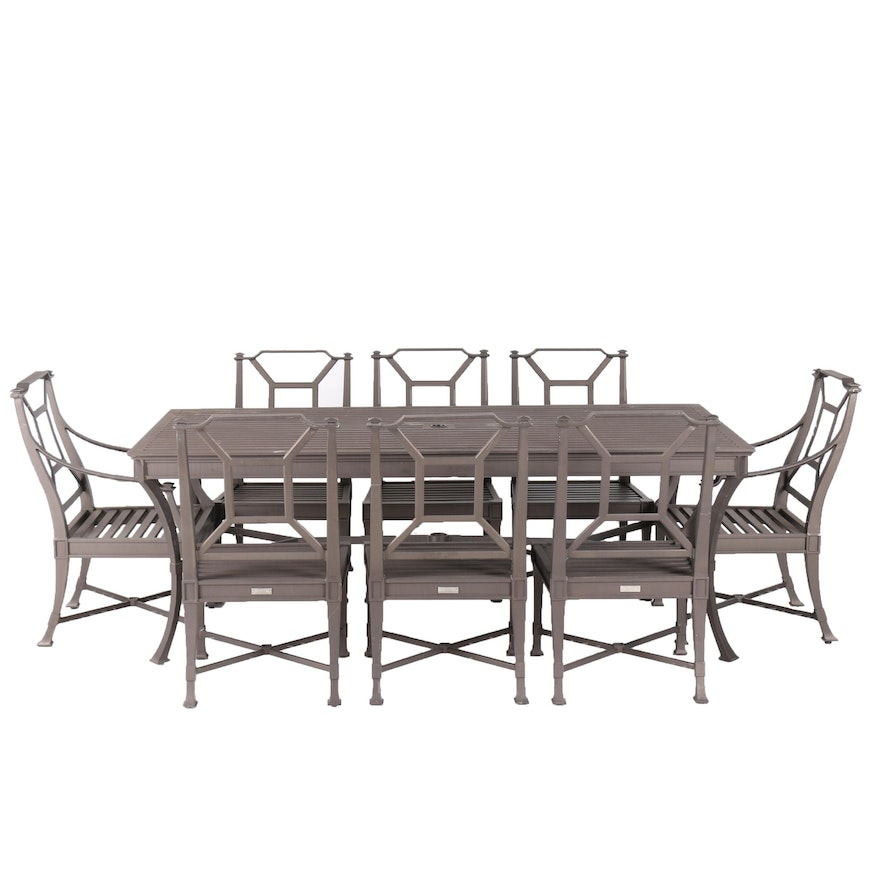 Restoration Hardware Antibes Outdoor Dining Table And Chairs EBTH - Restoration hardware dining table and chairs