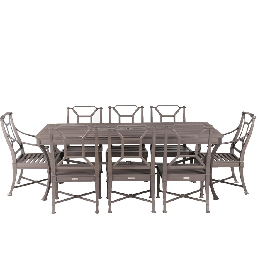 restoration hardware antibes outdoor dining table and