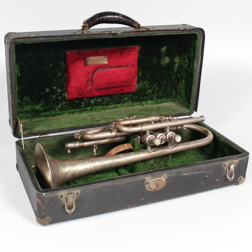 Antique J.W. York and Sons Trumpet