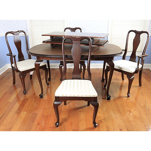 queen anne style ethan allen dining set ebth