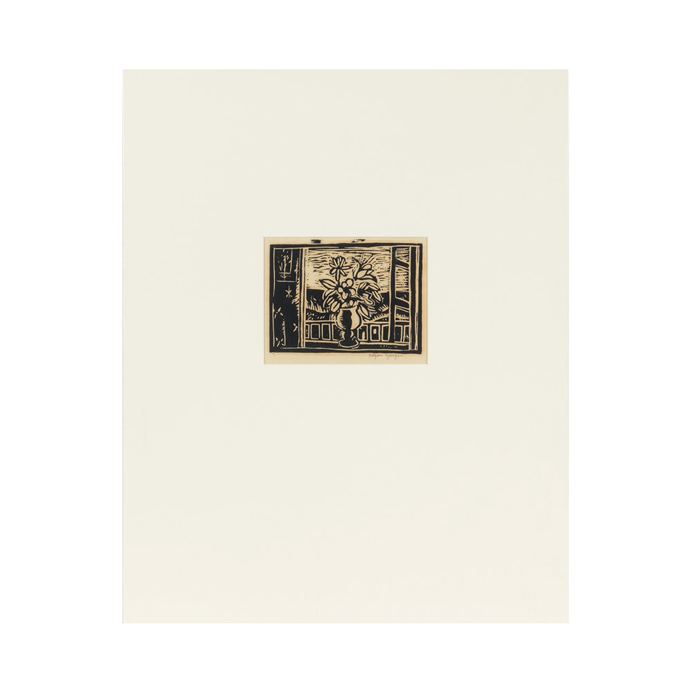 Edgar Yaeger Original Woodblock Print