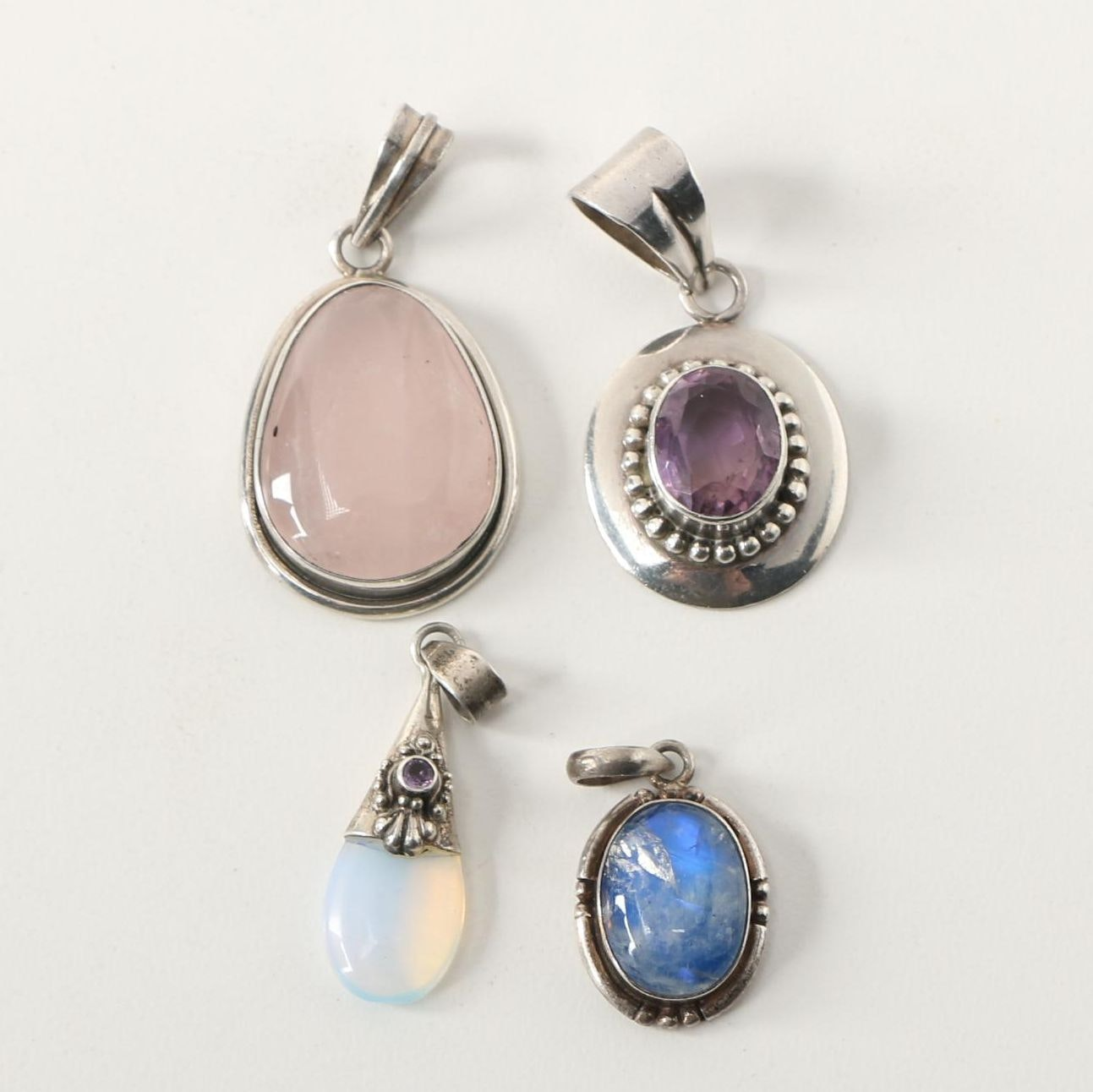 Assorted Sterling Silver and Gemstone Pendants