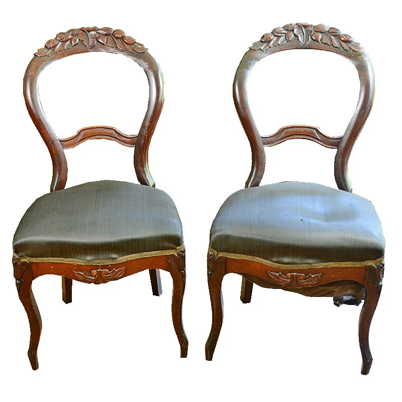 Antique Balloon Back Chairs ...