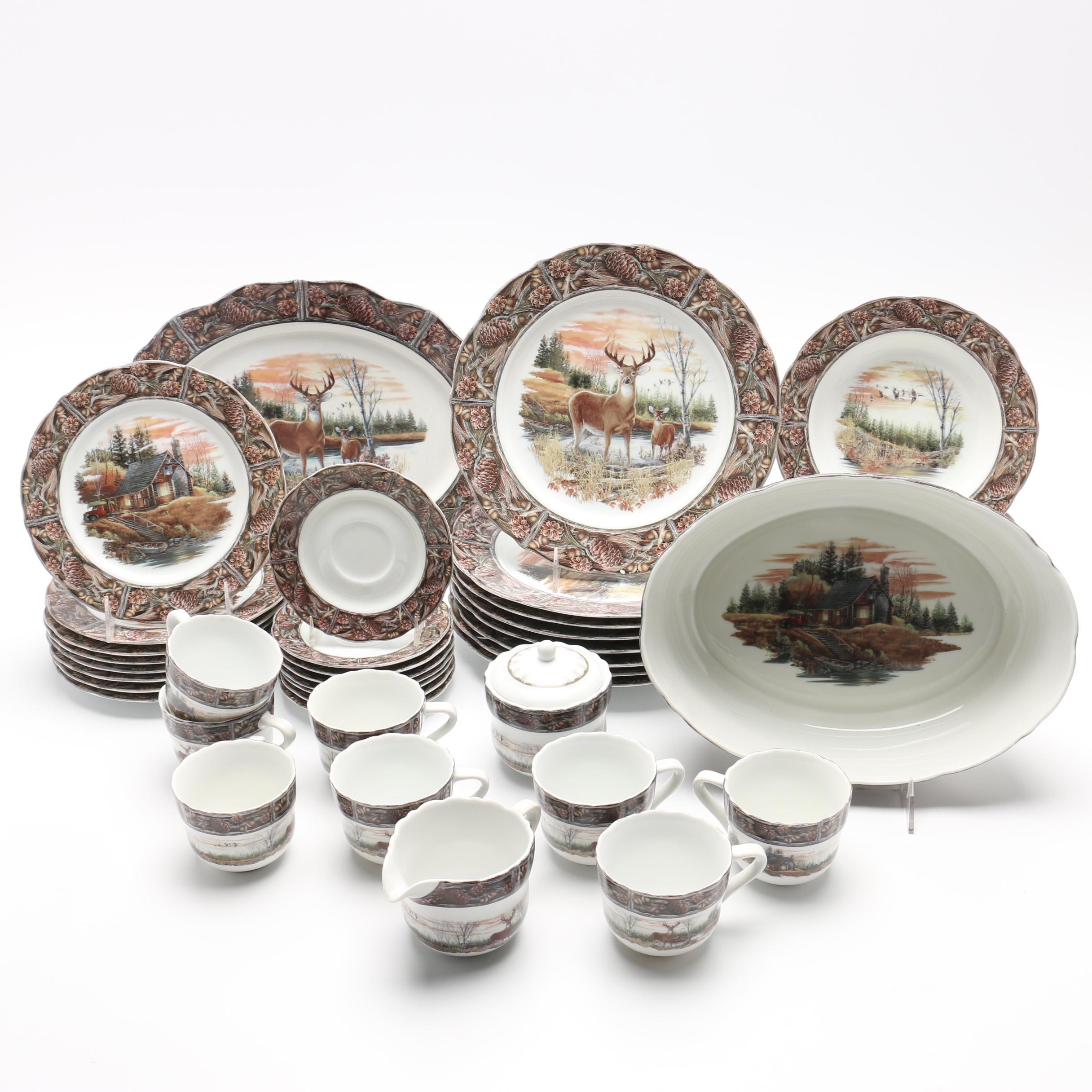 Franklin Mint  The Hunting Lodge  Porcelain Dinnerware ...  sc 1 st  EBTH.com & Franklin Mint